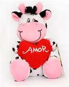 Picture of Vaca de pelucia coração amor