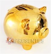 Picture of Cofre Porquinho Dourado Espelhado