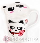 Picture of Caneca Panda Infantil Branca