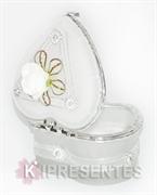 Picture of Porta jóias coração Vidro Branco