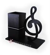 Picture of Porta Caneta Nota Musical Preto
