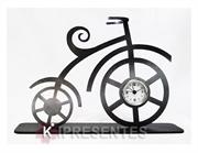 Picture of Relógio Decorativo Bicicleta Clássica Prateada