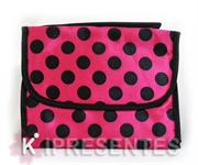 Picture of Necessaire feminina poa bolinhas pink e pretas