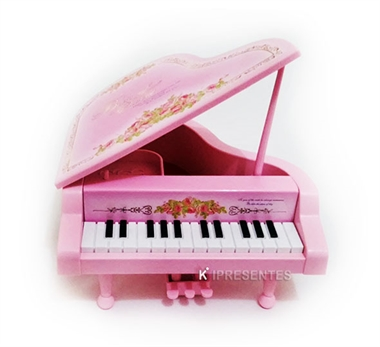 Picture of Caixa Musical Piano Rosa