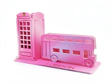 Picture of Porta Caneta Cabine Ônibus inglês Rosa