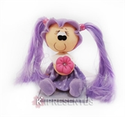 Picture of Bonequinha Menina Vestido lilas com flor