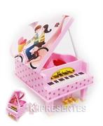 Picture of Piano Caixa Musical Rosa com bailarina